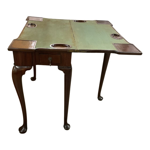 Antique Queen Anne Game Table For Sale