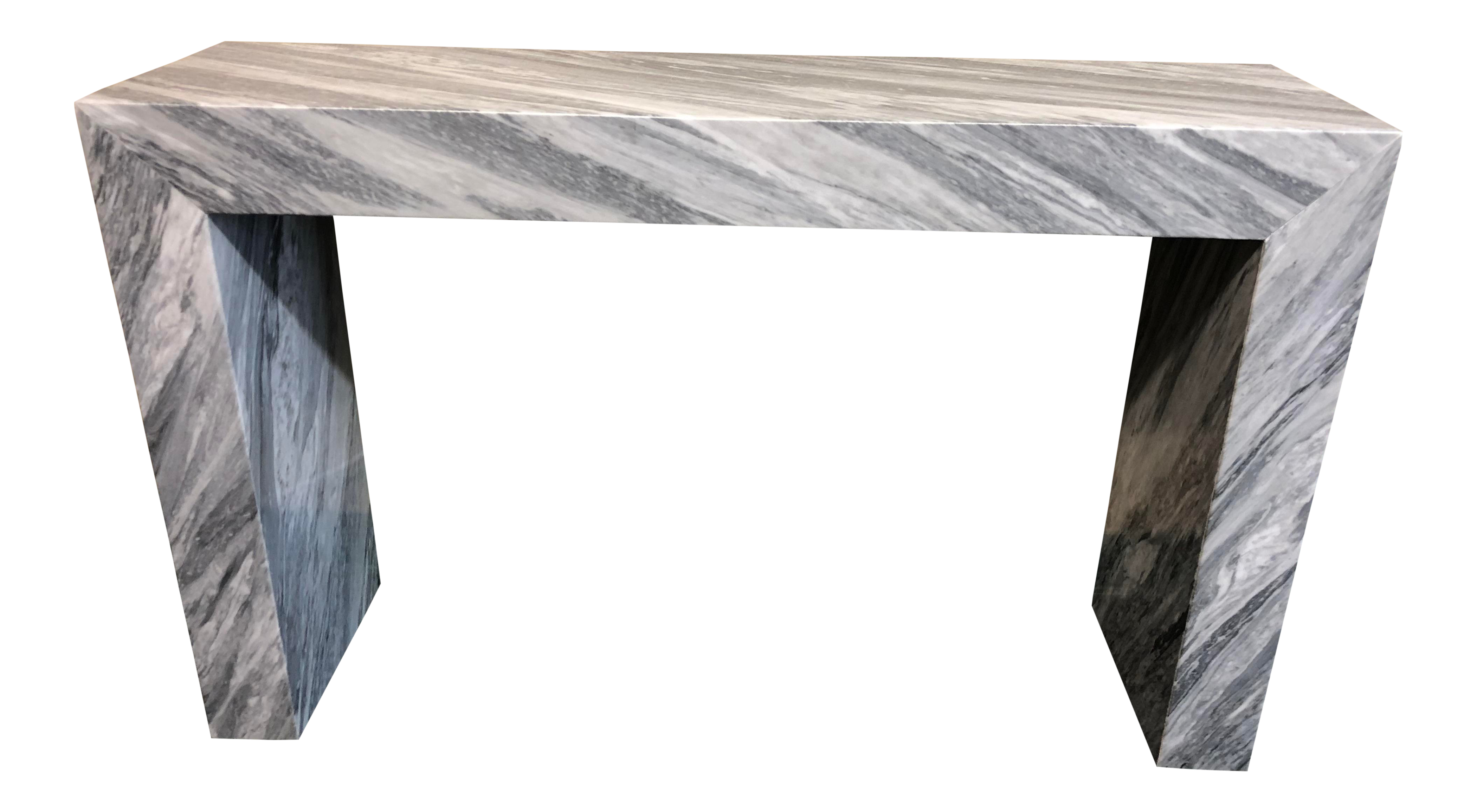 Contemporary Italian Marble Console Table For Sale