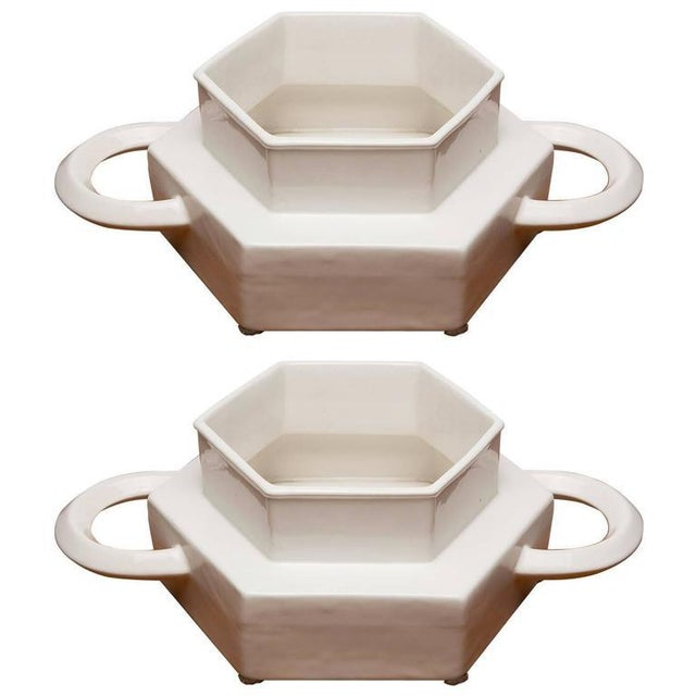 Pair of Ceramic Centerpieces by Gabbianelli For Sale - Image 9 of 9