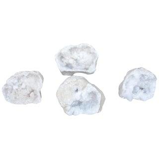 Set of Four Quartz Geode Specimens For Sale