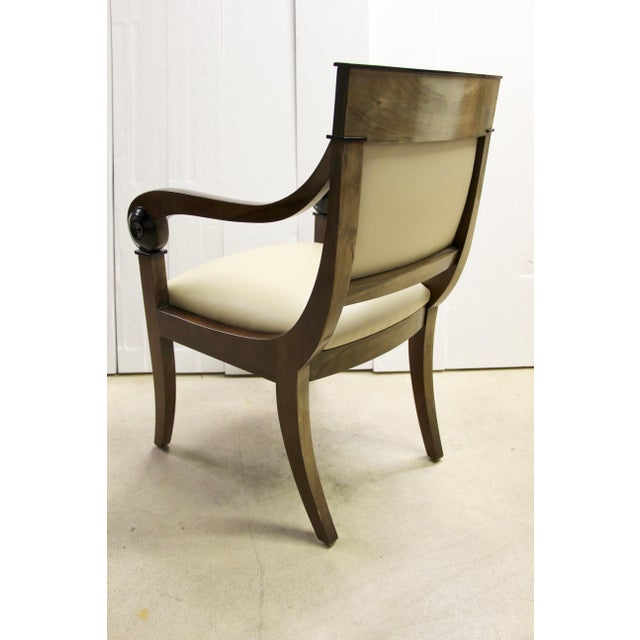 1960s Regency-Style Scroll Arm Chair For Sale - Image 5 of 9