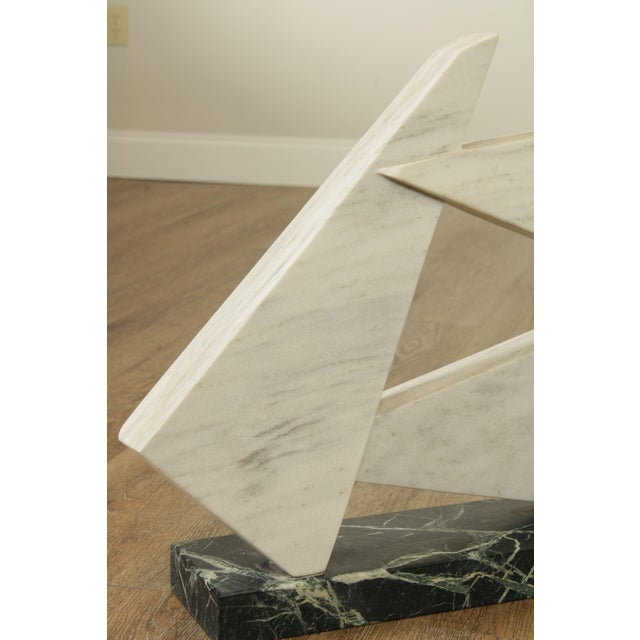 White Richard H. Bailey Geometric Marble Sculpture For Sale - Image 8 of 13