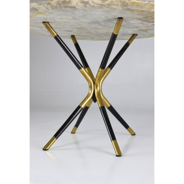 1950s Italian Vintage Round Marble Table by Cesare Lacca For Sale - Image 9 of 12