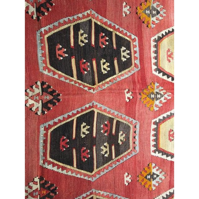 """Vintage Turkish Kilim Rug- 7'7"""" x 11'7"""" - Image 5 of 8"""