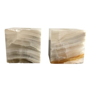 1970s Marble Candlestick Holders - a Pair For Sale