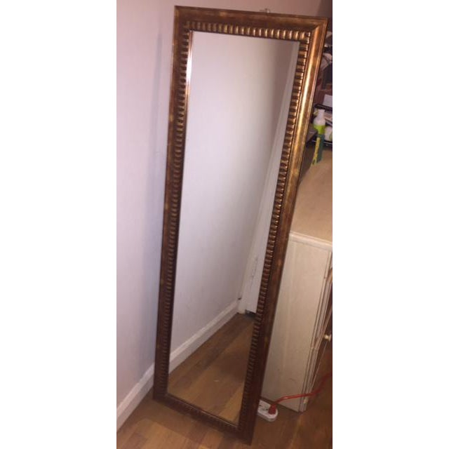 Gold Tone Full Length Mirror - Image 2 of 4