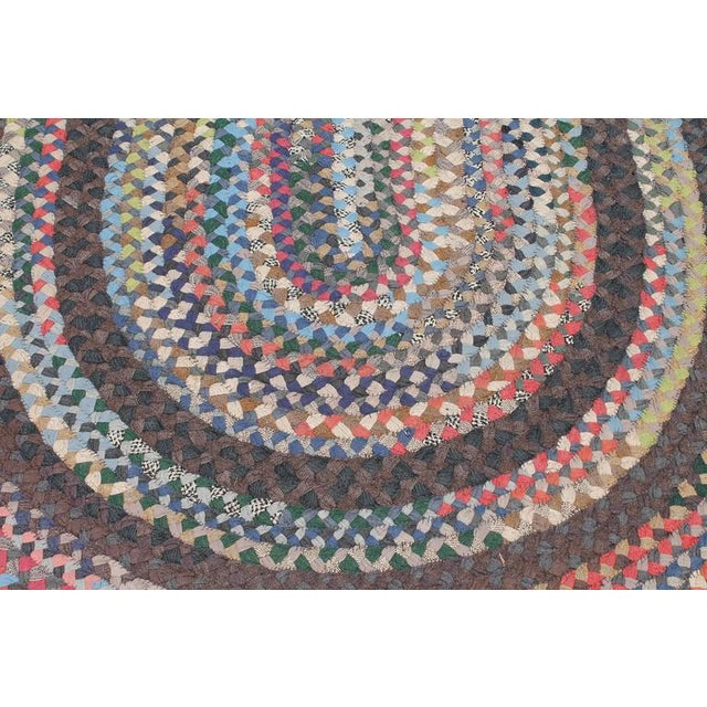 Early 20th Century Large Room Size Braided Rug - Image 6 of 6