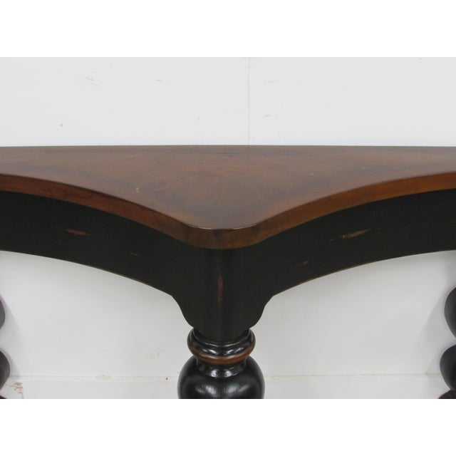 French Country Console Table in Ebony and Fruit-Wood For Sale In Raleigh - Image 6 of 9