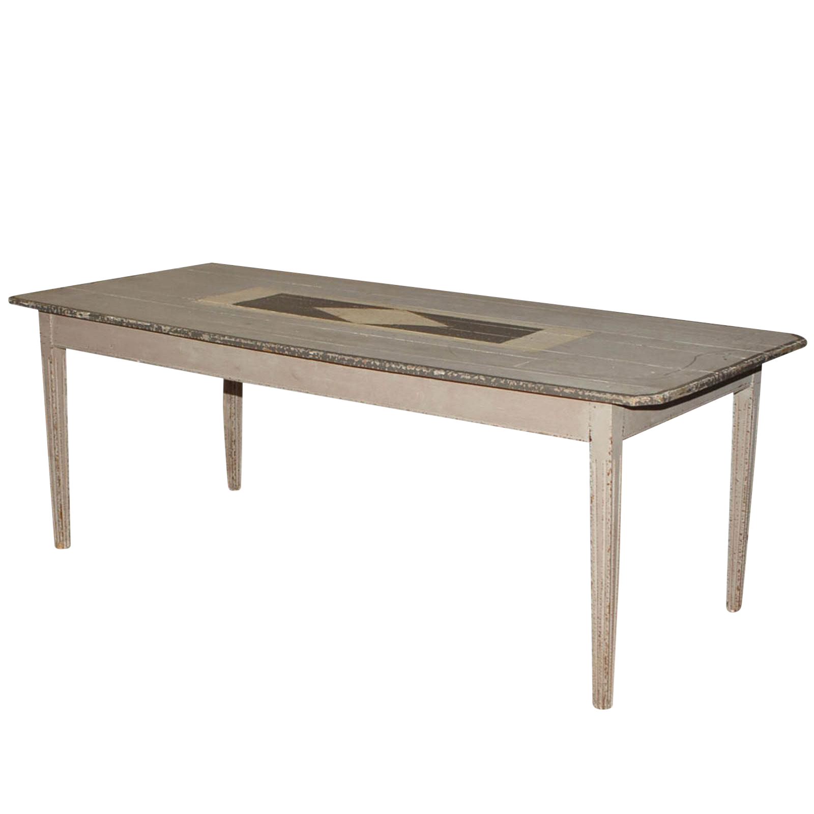 Superieur 1870 Gray Painted Farm Table