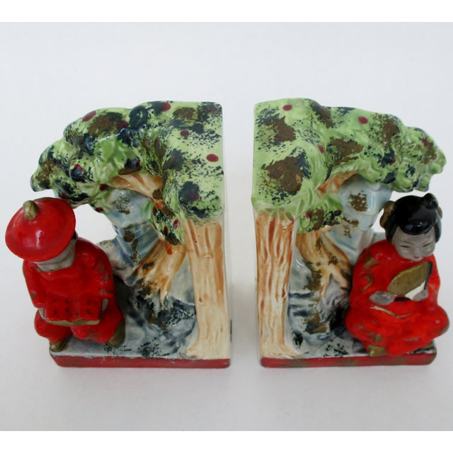 Asian Vintage Japanese Bookends, a Pair For Sale - Image 3 of 8