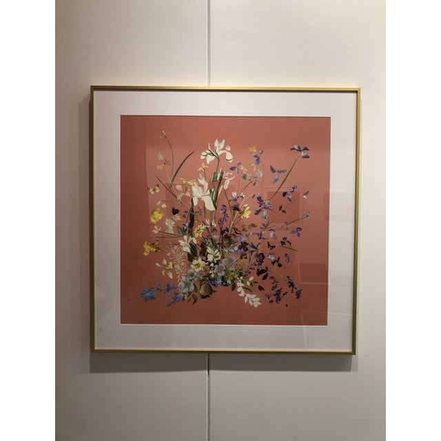 Meadow Floral Collage by Marcy Cook, Framed For Sale - Image 6 of 9