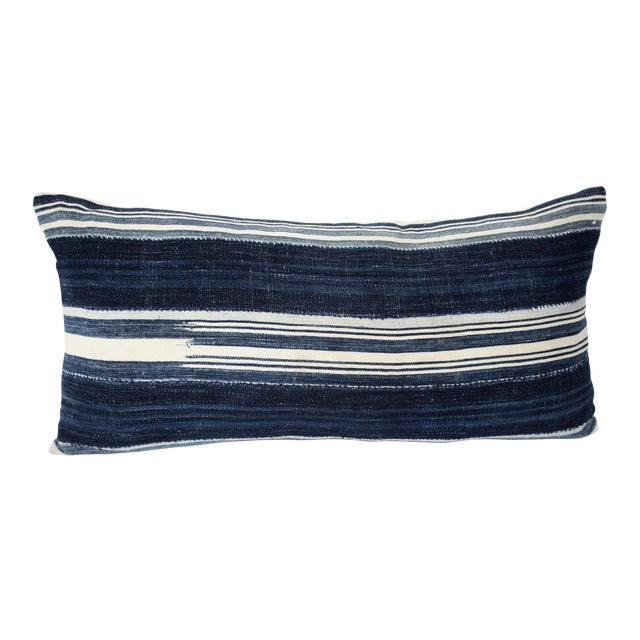Vintage Mali Indigo Textile Pillow - Image 1 of 5