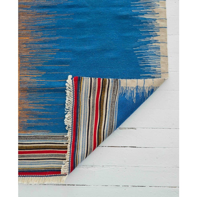 Contemporary Kamo Sofreh Handmade Wool Kilim Rug - 4′ × 5′ For Sale - Image 3 of 6
