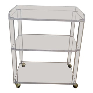 Mid-Century Acrylic Bar Cart For Sale