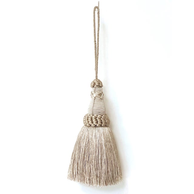 Key Tassel in Pewter and Silver With Looped Ruche Trim For Sale - Image 10 of 10