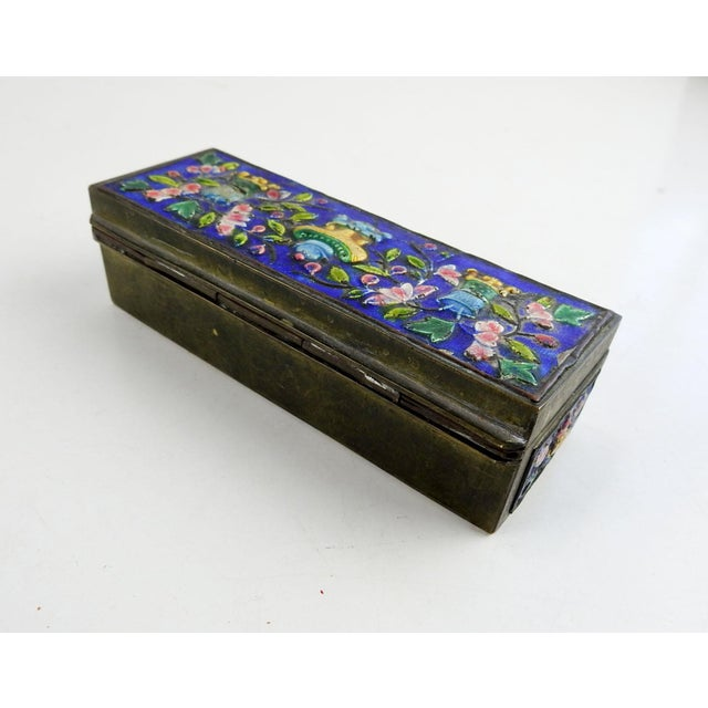 Chinese Vintage Chinese Enamel Box For Sale - Image 3 of 7