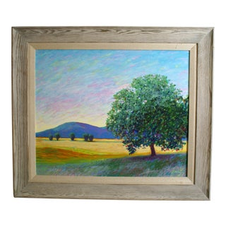 """2002 Stephen Henning """"Evening and the Witness Tree"""" Oil Painting For Sale"""