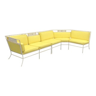 Amazing! Vintage Salterini Wrought Iron Sectional Bamboo Pattern For Sale