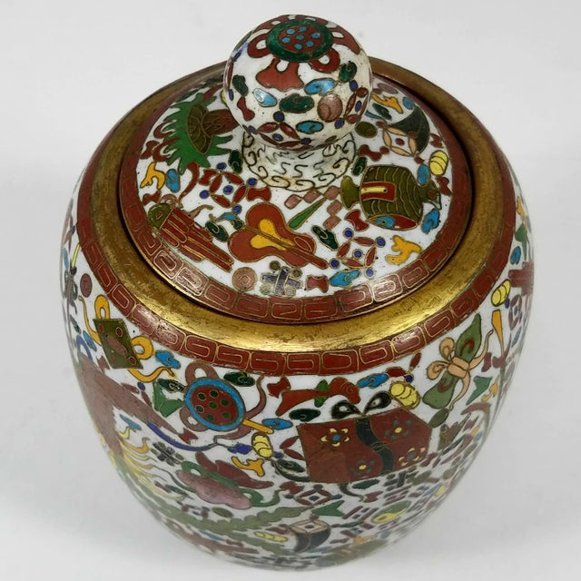 Rare Chinese Cloisionne Vase For Sale - Image 4 of 7