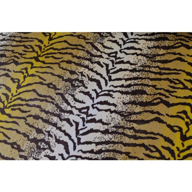 2020s Tiger Silk Velvet Fabric - 1 Yard For Sale - Image 5 of 6