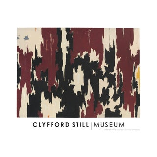 "Clyfford Still Abstract Expressionist ""Ph - 401"" Lithograph Print Poster, 1957 For Sale"
