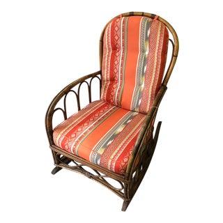 Mid-Century Ratan Rocking Chair