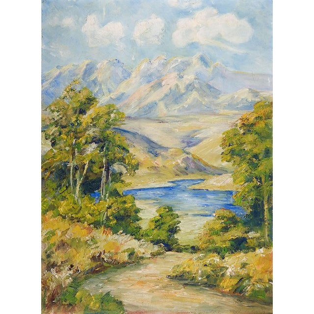Impressionist Impressionist Mountain Landscape Painting For Sale - Image 3 of 3