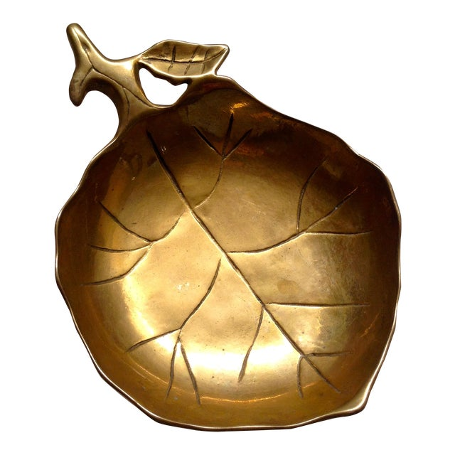 Brass Leaf Bowl For Sale