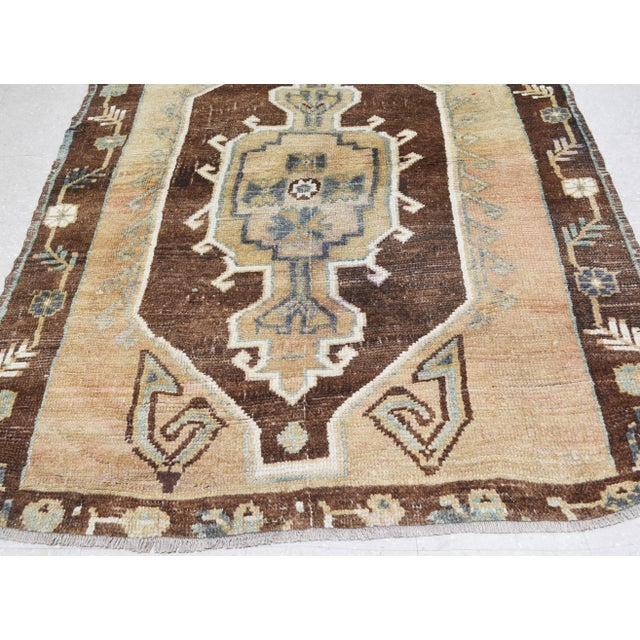 "Vintage Kurdish Tribal Rug,5'1""x12'3"" For Sale - Image 4 of 6"