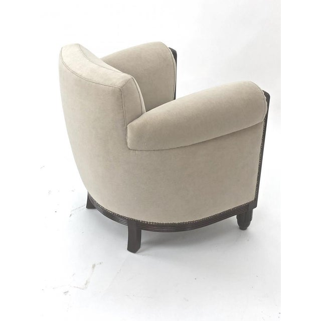 Art Deco Paul Follot Pair of Comfy Club Chair For Sale - Image 3 of 7