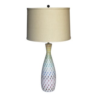 Italian Aldo Londi Multi Pastel Feather Lamp 1950s