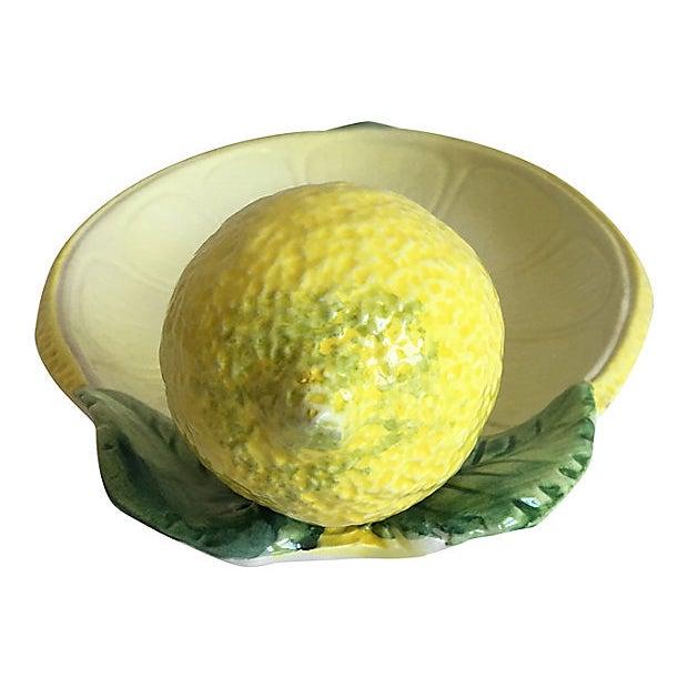 Ceramic Italian Majolica Lemon Platter For Sale - Image 7 of 8