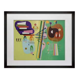 Wassily Kandinsky Lithograph 1969 Limited Edition Sign W/Frame Included Active For Sale