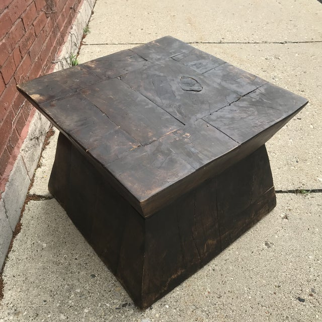 Industrial Chic Antique Table For Sale - Image 4 of 9
