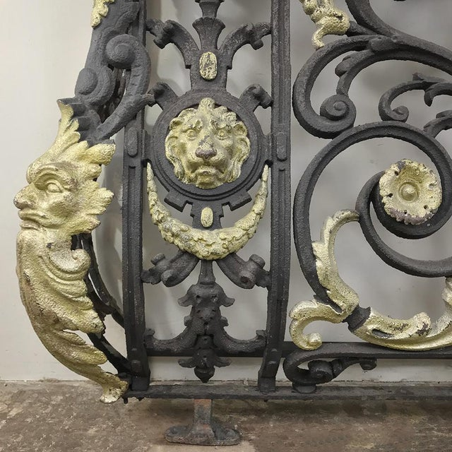 French Napoleon III Period Cast Iron Marble Top Console For Sale - Image 3 of 12