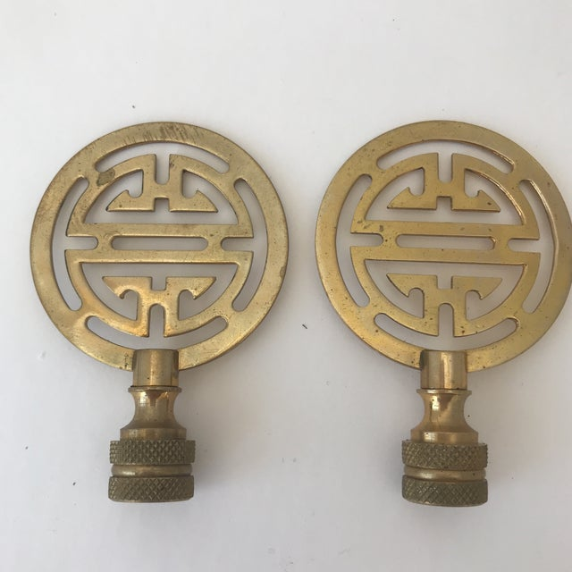 Brass Lamp Finials - A Pair - Image 3 of 3