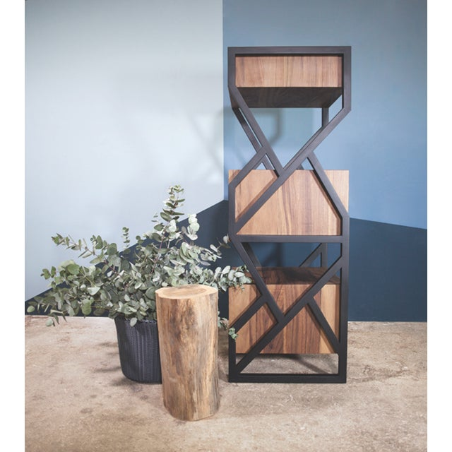 Contemporary Levita Chest in Solid Matilisguate Wood For Sale - Image 3 of 6