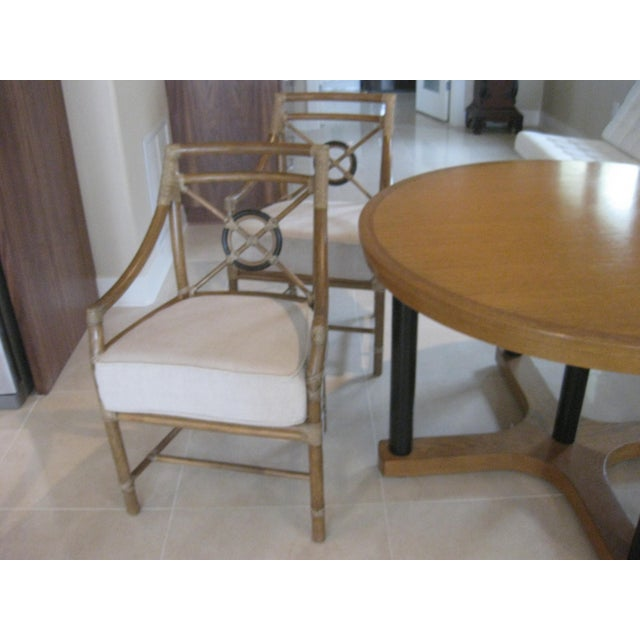 McGuire Target Bamboo Chairs & Dining Table - Set of 5 - Image 4 of 8
