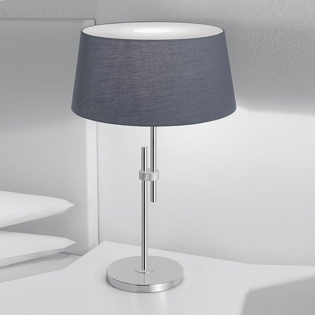 Contemporary Polished Chrome Lamp With Shade For Sale - Image 3 of 4