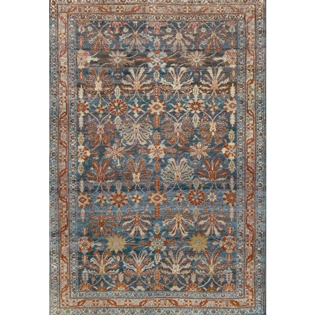 Late 19th Century Handwoven Malayer Wool Rug For Sale