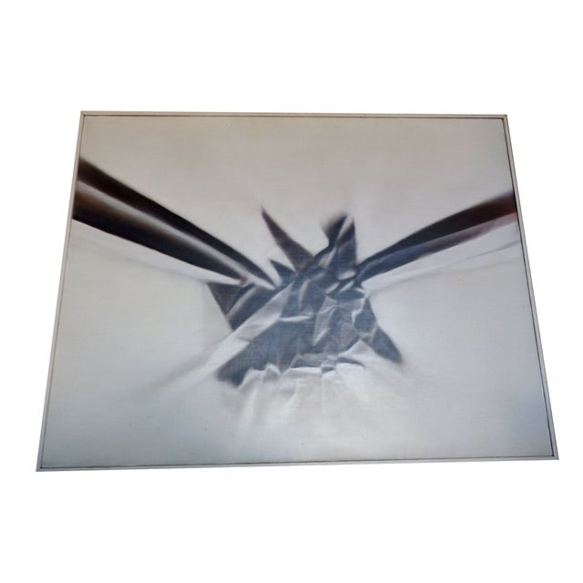 Modern Abstract Airbrush Painting - Image 1 of 5