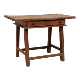 18th Century Brazilian Peroba Tropical Wood Side Table with Single Drawer For Sale