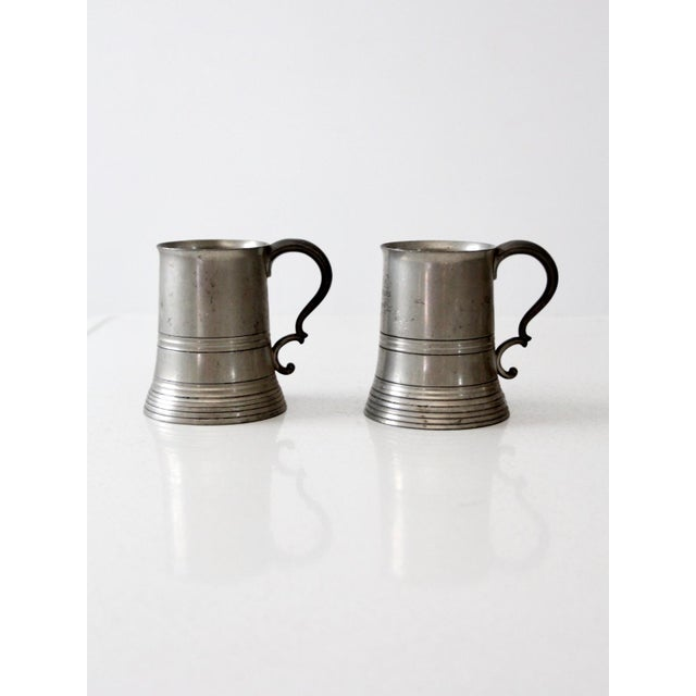 Antique Pewter Glass Bottom Tankards - a Pair For Sale - Image 13 of 13