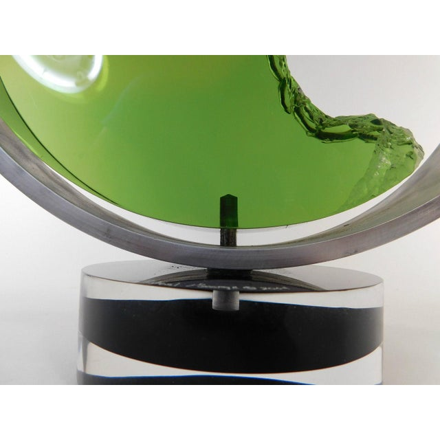 Michael George Lucite Kinetic Moon Sculpture For Sale - Image 9 of 11