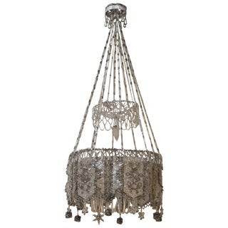 French Beaded Chandelier For Sale