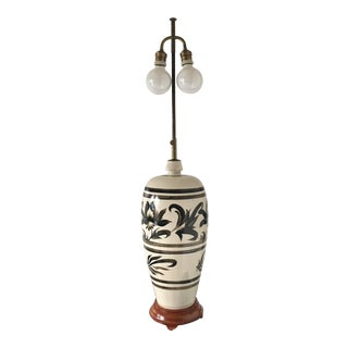 1970s Vintage Chinoiserie Ceramic Lamp For Sale