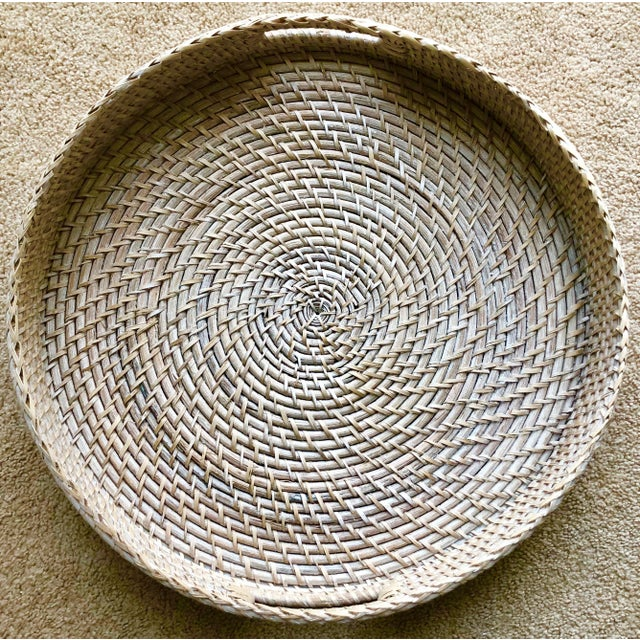"Artifacts Rattan 18""Round Tray For Sale - Image 4 of 10"