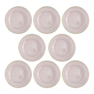 Siren Rosewater Charger Plate - Set of 8 For Sale