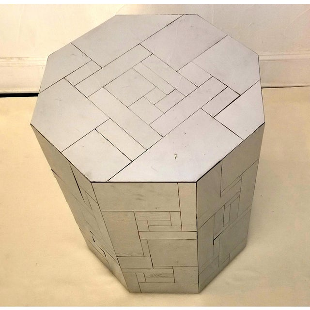 Metal Modern Paul Evans Cityscape Chrome Octagon Base For Sale - Image 7 of 12