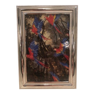 Contemporary Small Double Beaded Picture Frame For Sale